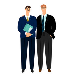 business colleagues confident partners isolated vector image