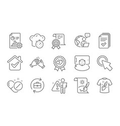 certificate handout and creative painting icons vector image