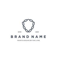 Chains and shields logo design vector