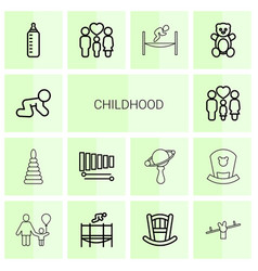 Childhood icons vector