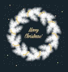 Christmas card with wreath vector