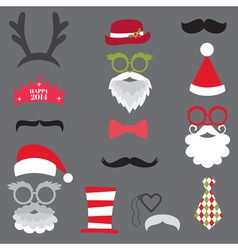 Christmas Retro Party set vector image