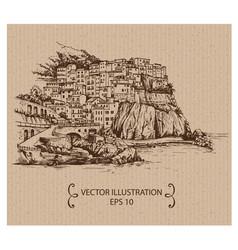 cinque terre vector image