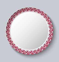 circular ornament frame applied to a decorative vector image