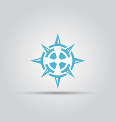 Compass isolated abstract logo vector