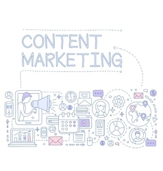 Content Marketing Infographics vector