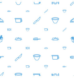 Cook icons pattern seamless white background vector