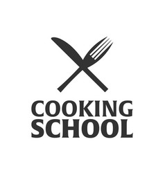 Cooking school logo cooking academy vector