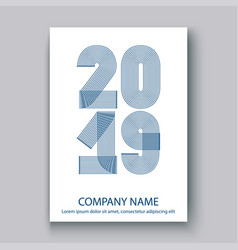 cover annual report numbers 2019 modern design vector image