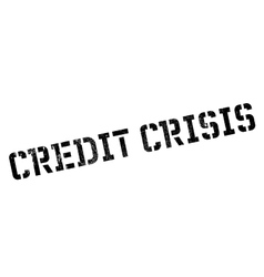 Credit Crisis rubber stamp vector image
