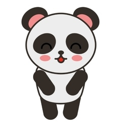cute bear panda animal tender isolated icon vector image