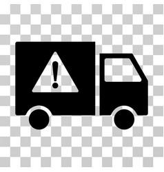 danger transport truck icon vector image