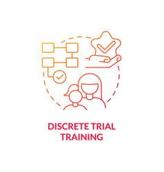 Discrete trial training concept icon vector