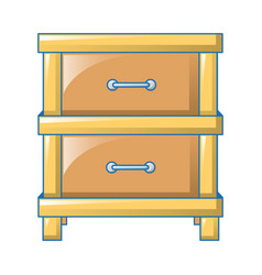Double drawer icon cartoon style vector