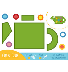 education paper game for children watering can vector image