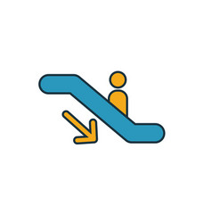 escalator down icon simple element from shopping vector image
