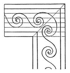 evolute spiral angles is a wave pattern that vector image