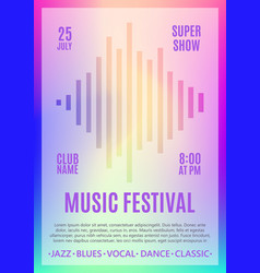 Festival poster music flyer carnival design vector