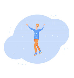 Figure skating concept vector