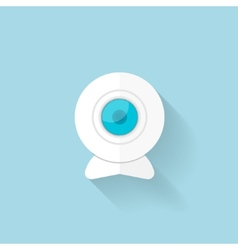 Flat web icon Web camera vector