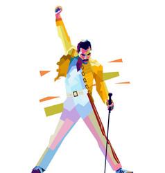 Freddie mercury iconic pose vector