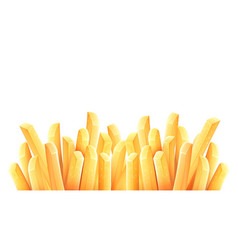 French fries roasted potato vector