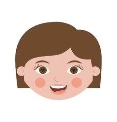 Front face adult woman with short hair vector