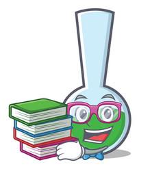 Geek tube laboratory character cartoon vector