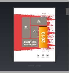 Geometric colorful business brochure cover vector