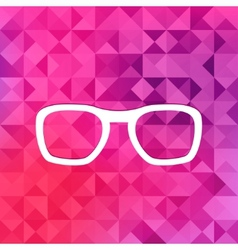 Glasses icontriangle background vector