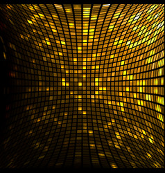 gold mosaic square with round corners vector image