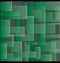 green backdrop with square color abstract pattern vector image