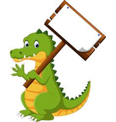 happy fun crocodile cartoon vector image