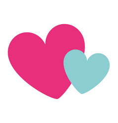 hearts love decoration romance image vector image