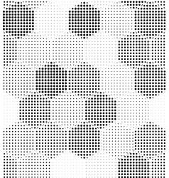 hexagon geometric pattern seamless halftone vector image