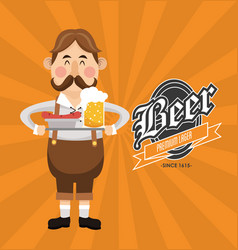 Man beer oktoberfest design vector