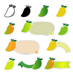 Mango icon set logo design on white background vector