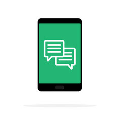 mobile phone chat message notifications isolated vector image