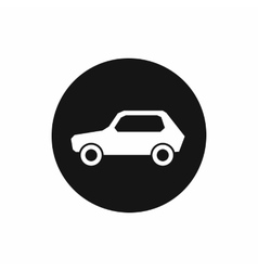 Only motor vehicles allowed road sign icon vector image