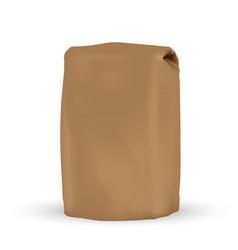 Packaging blank brown packaging bag for bulk vector