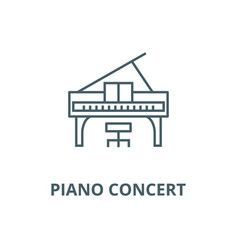 piano concert line icon linear concept vector image