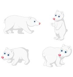 polar bear cartoon collection vector image