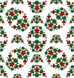 Red flowers pattern vector image