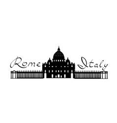 rome travel landark san peter cathedral italian vector image