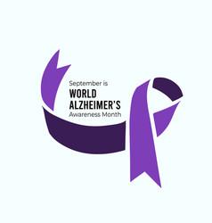 September is world alzheimers month vector
