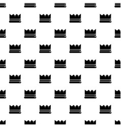 Silver crown pattern seamless vector
