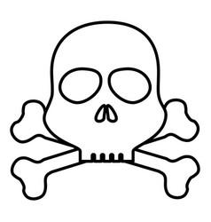 Skull danger alert icon vector