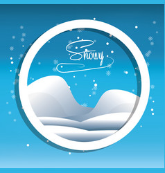 Snow and alps design vector