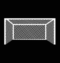 soccer football goal icon design vector image