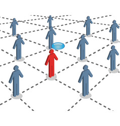 social connection vector image